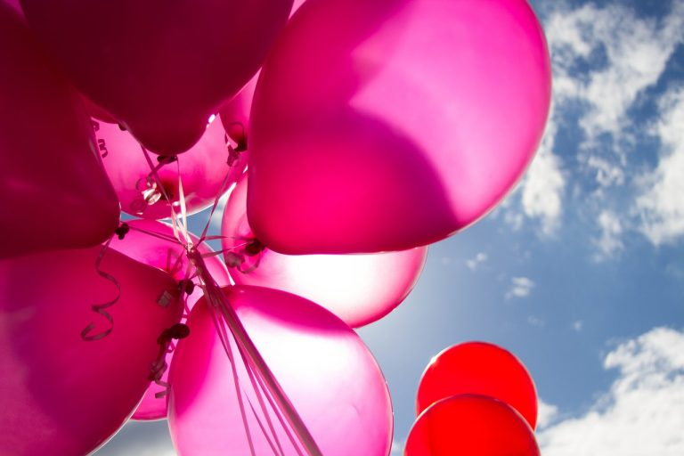 balloon, colorful, red